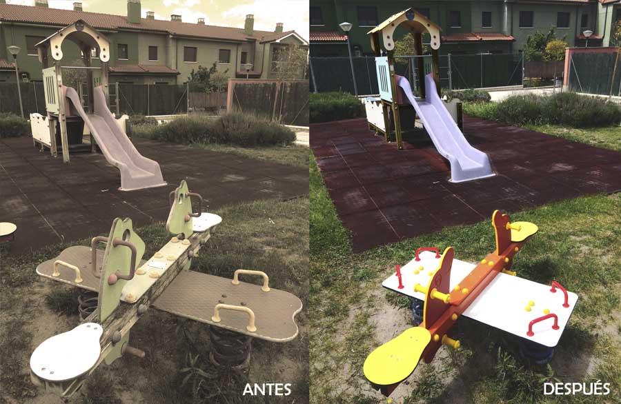 conservación y mantenimiento del mobiliario urbano para niños
