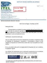 Certificación Mascarillas Covid